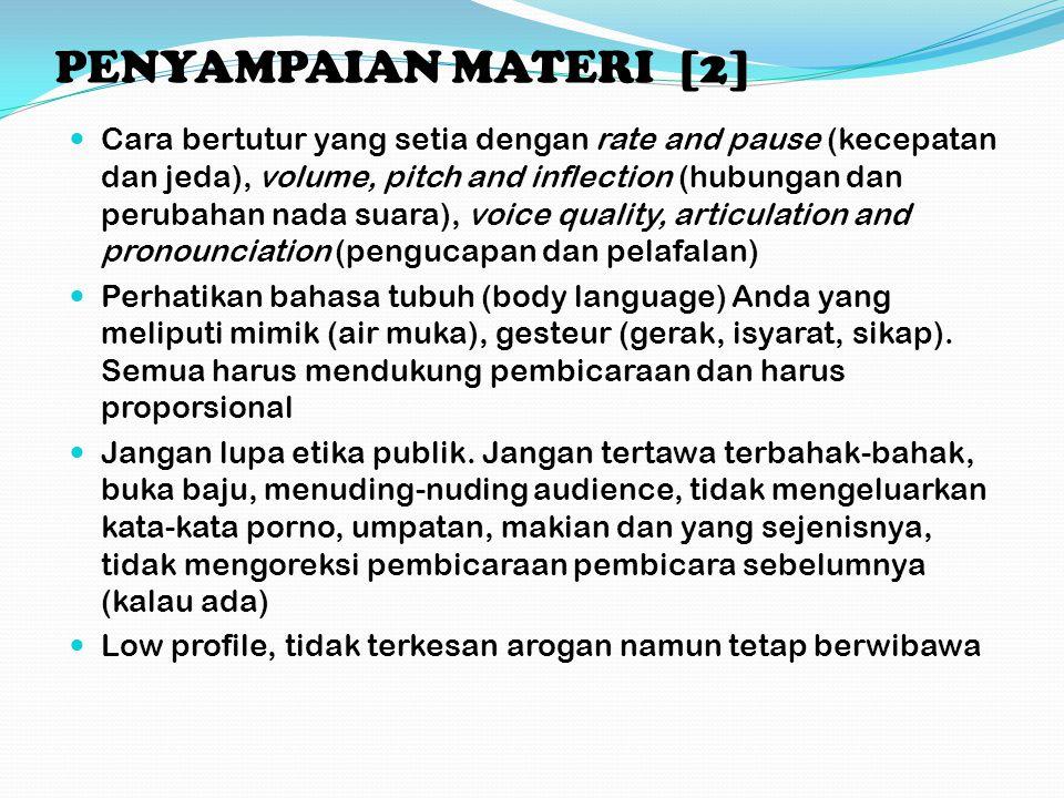 PENYAMPAIAN MATERI [2]